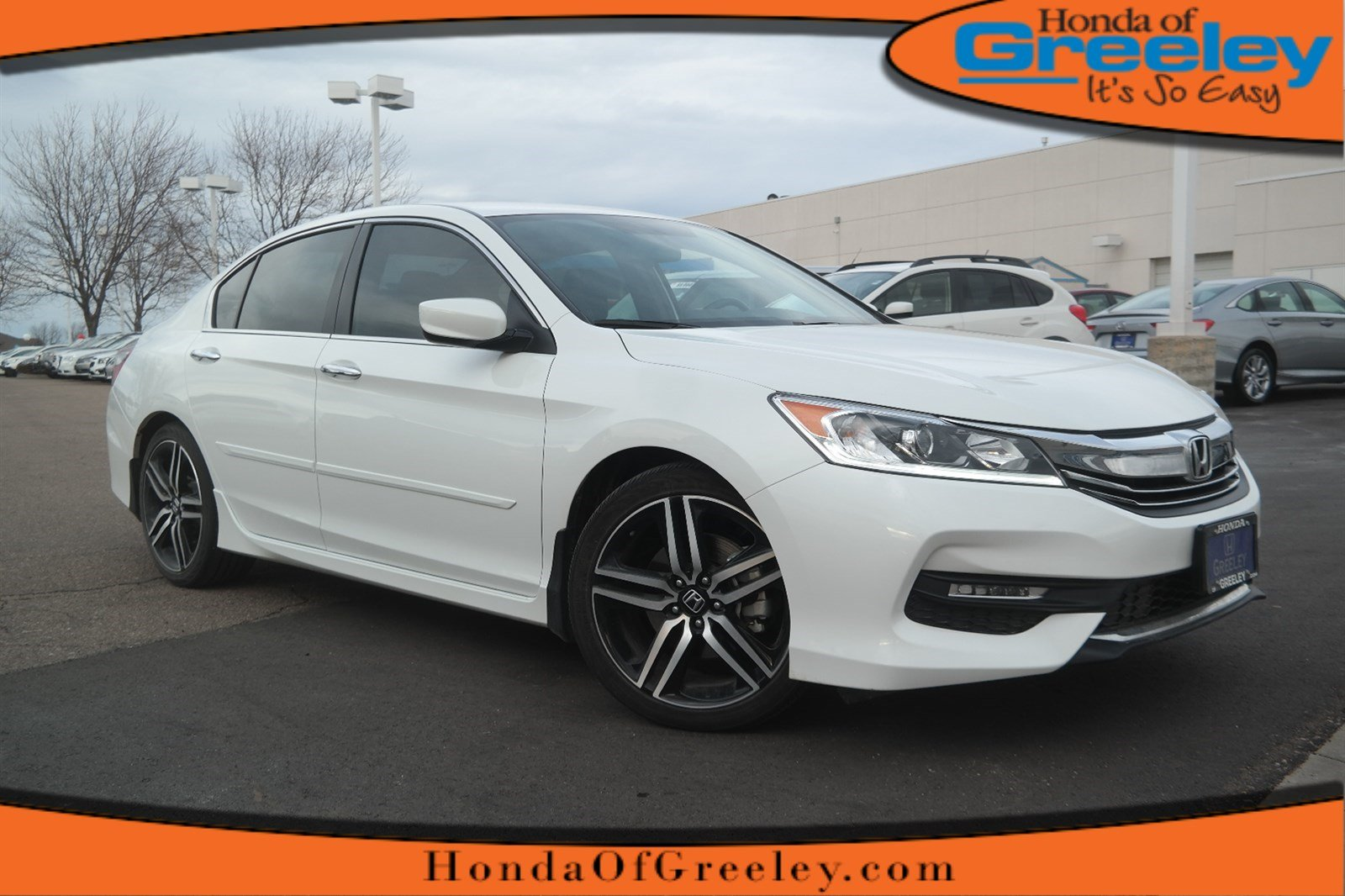 pre owned 2017 honda accord sport se 4dr car in greeley 17h014 honda of greeley. Black Bedroom Furniture Sets. Home Design Ideas
